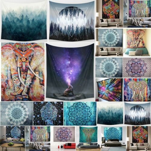 Indisch Mandala Tapisserie Strandtuch Wandteppich Wandbehänge Yoga Matte Decke
