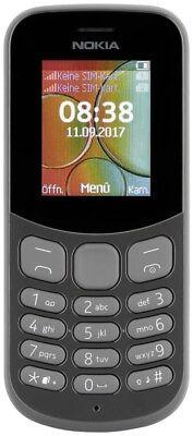 Nokia 130 Dual SIM 2017  8 MB Barren Handy ohne Vertrag/SIMlock,  schwarz