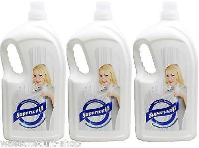 3 x 3 Liter Superweiß - Gardinenvollwaschmittel  Gardinenwaschmittel Wäscheduft