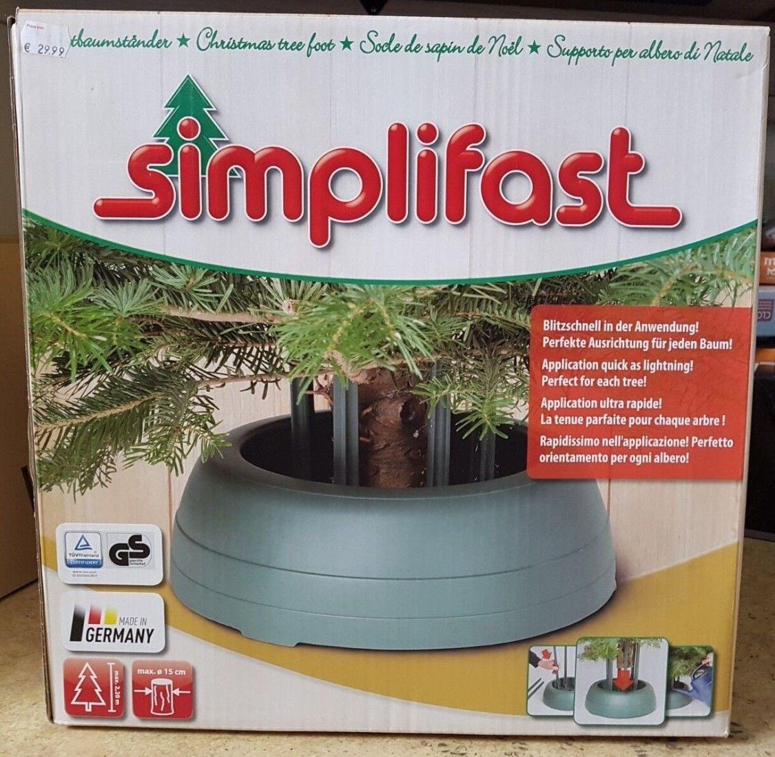 NEU - Simplifast Christbaumständer - Weihnachtsbaumständer bis max. 2,2m Höhe