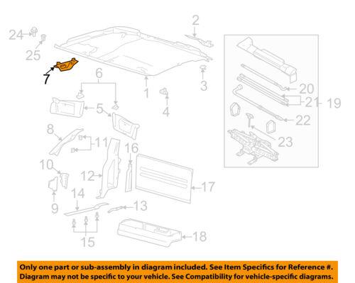 NEW OEM HEADLINER RH STRIKER COVER 20042011 FORD F150