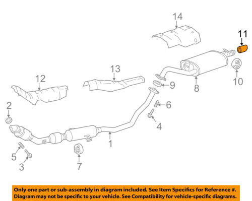 details about toyota oem 09 16 corolla 1 8l l4 exhaust system tail pipe 1740837010
