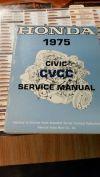 1975 Honda Civic cvcc Original Factory Service Shop Manual Book