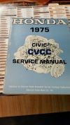 1975 Honda Civic cvcc Original Factory Service Shop Manual Book