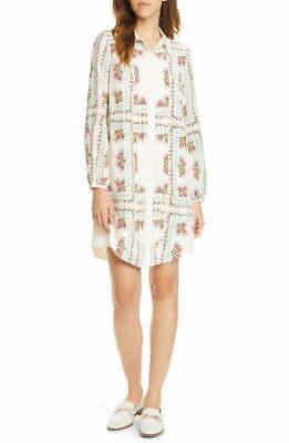 Tory Burch Cora Silk Dress ShirtDress 2 NWT XS Garden Veil $498 '19
