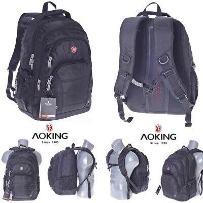17 Zoll Notebooktasche Laptop-Tasche Rücksack Passend für bis zu 17 Zoll Schwarz