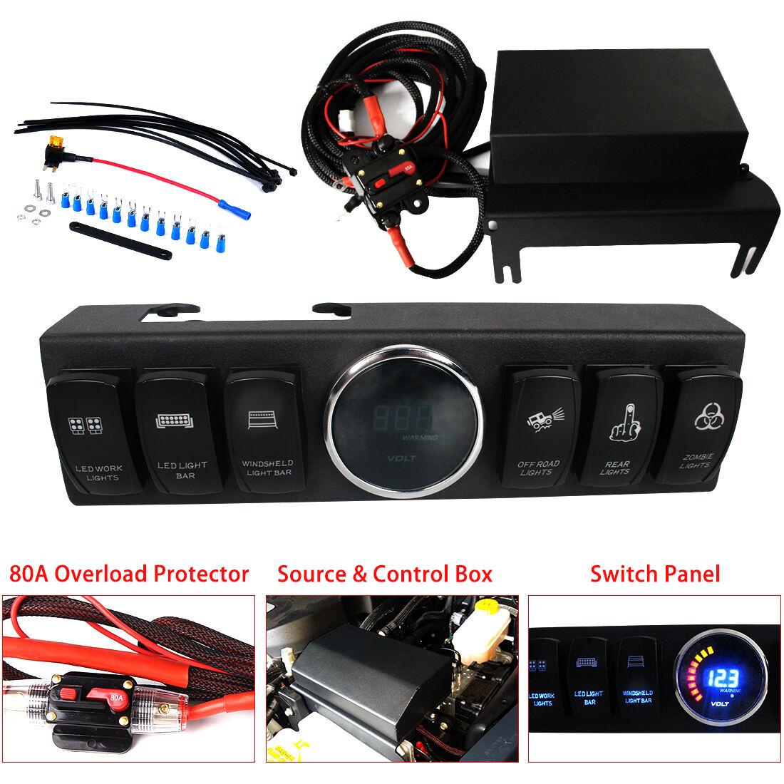 Firebug Jeep Wrangler Switch Panel, Jeep 6 Rocker Switch Cotrol Bracket JK JKU 614409697930 | eBay