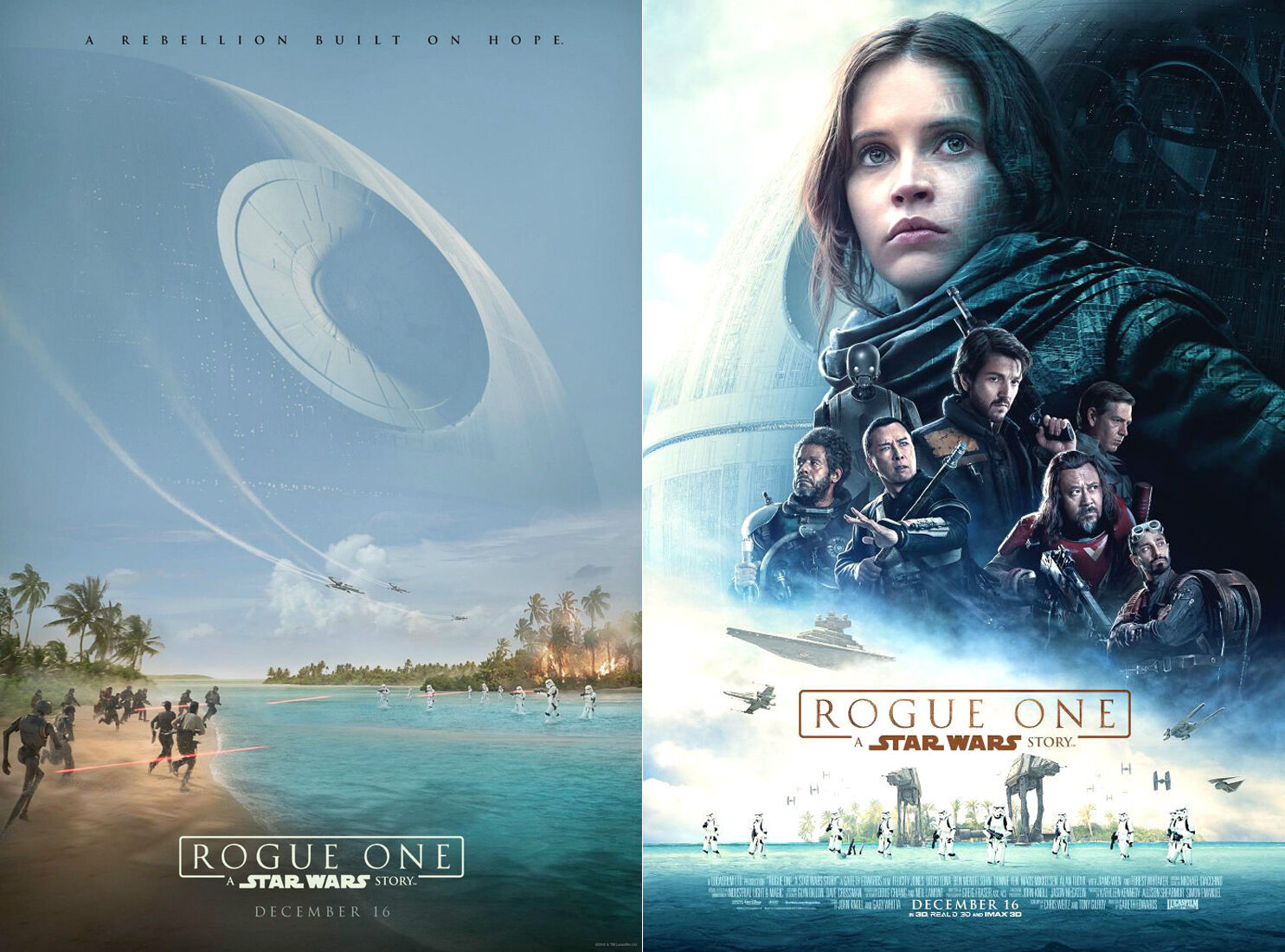 details about set of 2 movie poster original rogue one a star wars story 13x19 ds