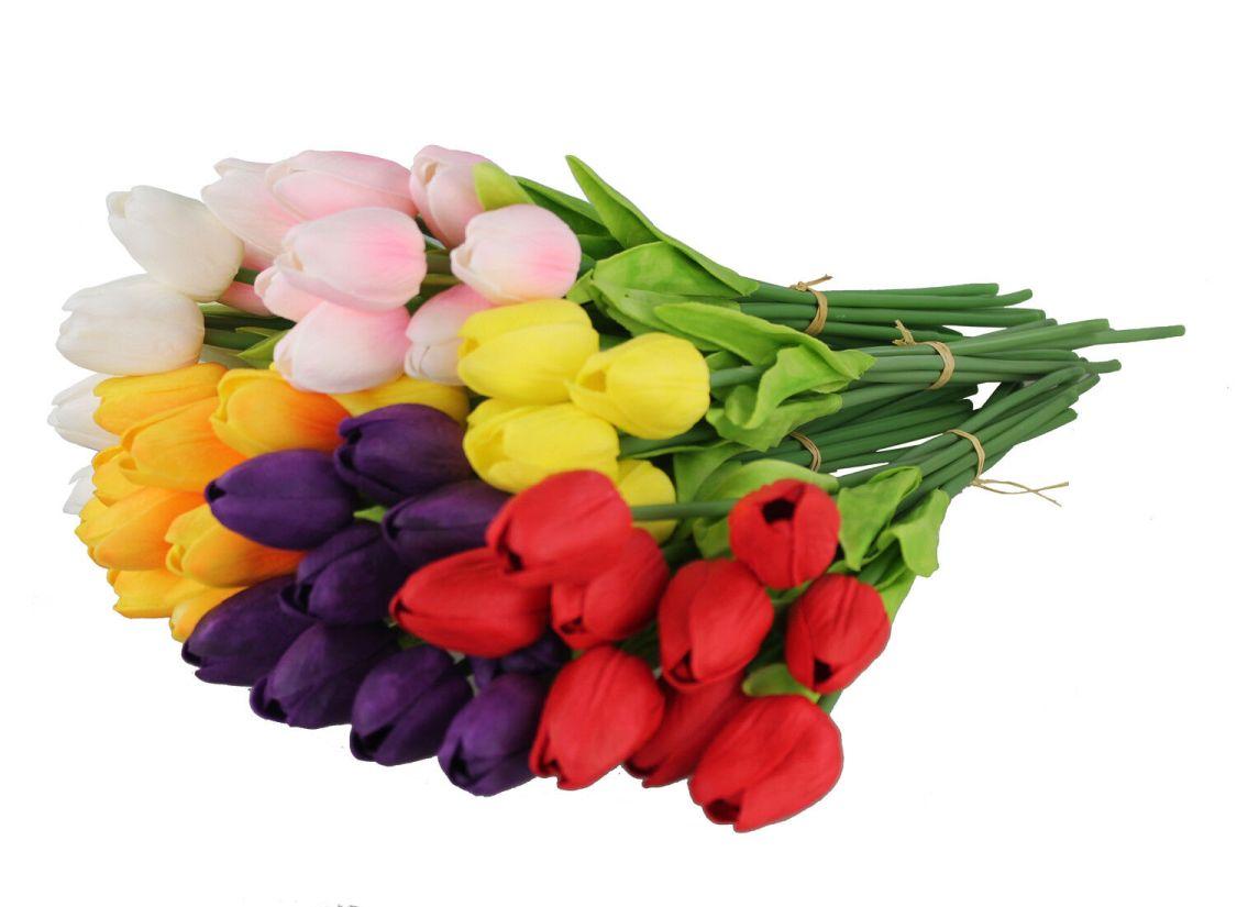 9 Tulpen Bund 35 cm Latex Blumen Künstliche Blumen Blumenstrauß Kunstblumen
