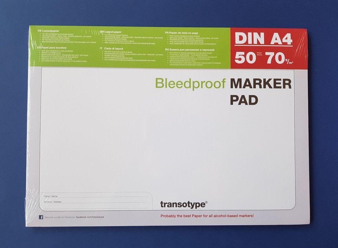 Copic Marker Block DIN A4 Layoutpapier transotype MARKER PAD 50 Blatt
