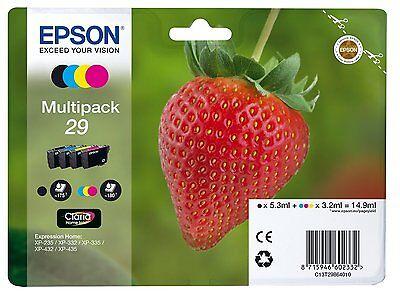 Epson Original Multipack 29 T2986 Tintenpatrone Erdbeere, Claria Home Tinte