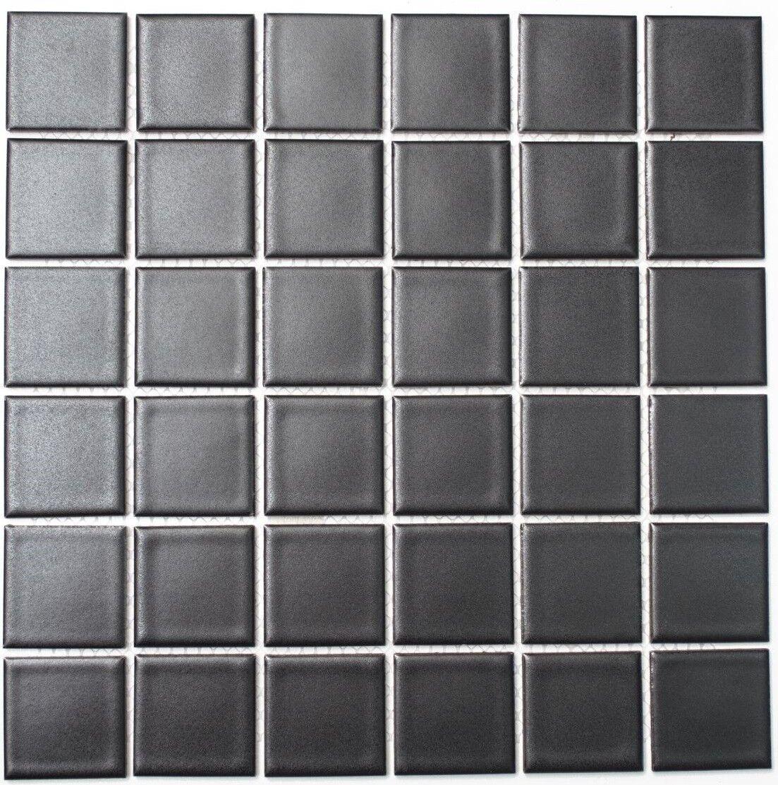 details sur mosaique carreau ceramique noir mat cuisine bain mur sol 16 0311 f 10 plaques