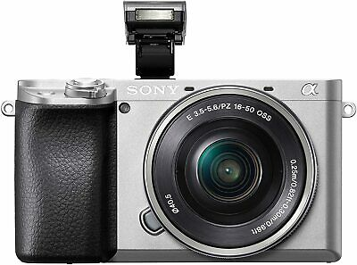 Sony Alpha A6100 Mirrorless Camera with 16-50mm Zoom Lens (Silver)