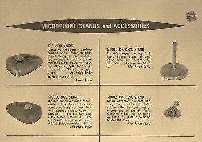 Vintage RARE 1950's Turner C-3 microphone old stand midcentury Turner # 1