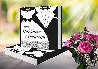 Gästebuch Hochzeit Hardcover Hochzeitsgästebuch Schwarz Weiß Mr. & Mrs.