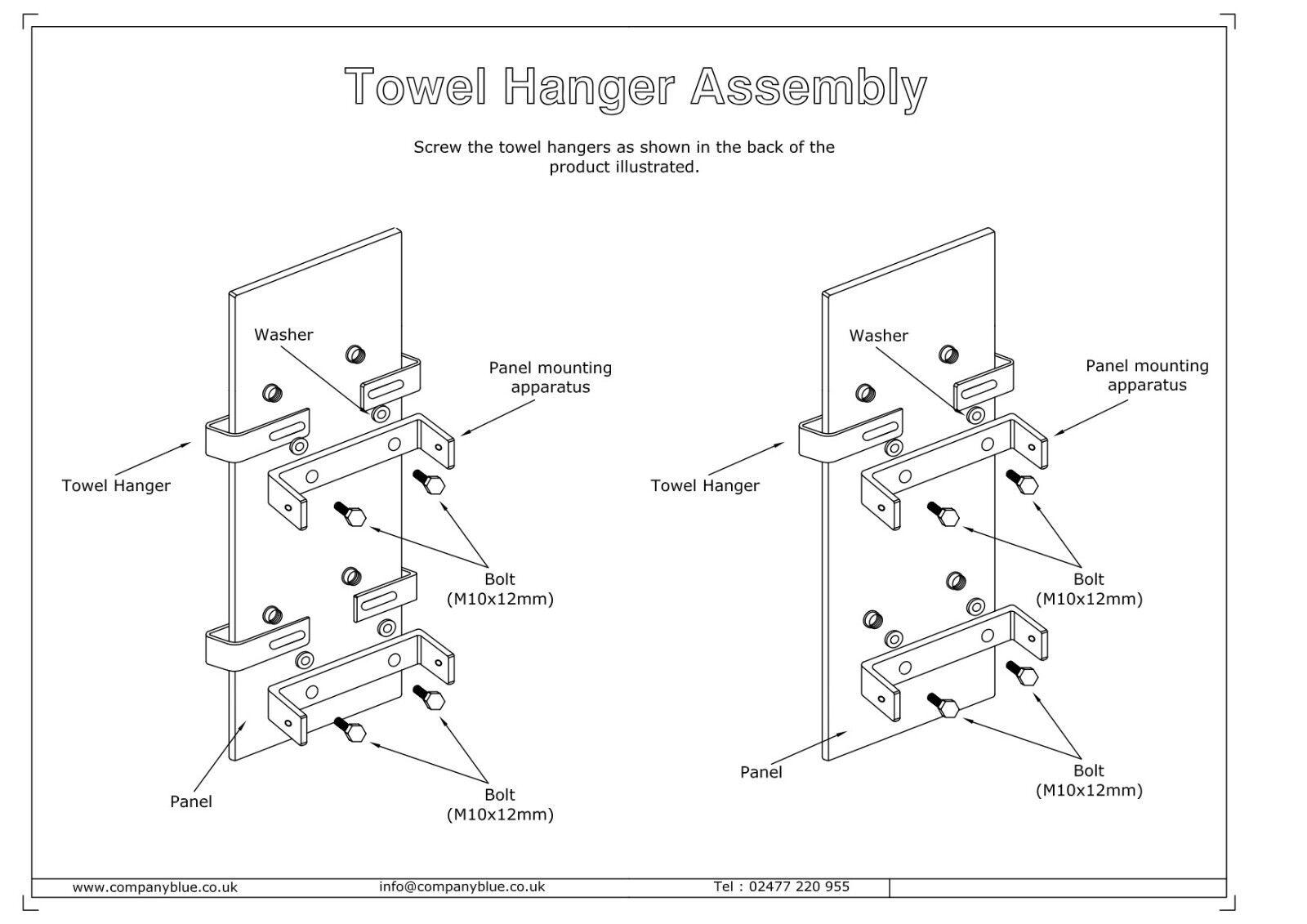 White Designer Heated Towel Rail Radiator 300 X Mm