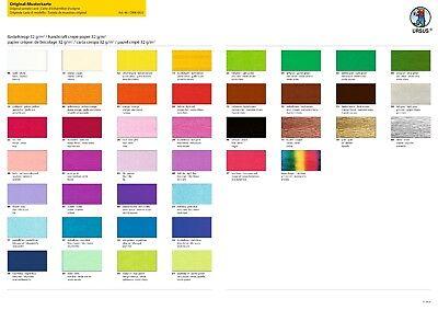 Krepppapier Feinkrepp 250 x 50 cm 10,5 oder 2 Rollen pro Farbe