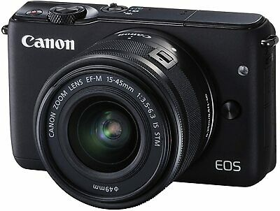 Canon EOS M10 Mirrorless Camera Kit w/ EF-M 15-45mm Image Stabilization STM Lens