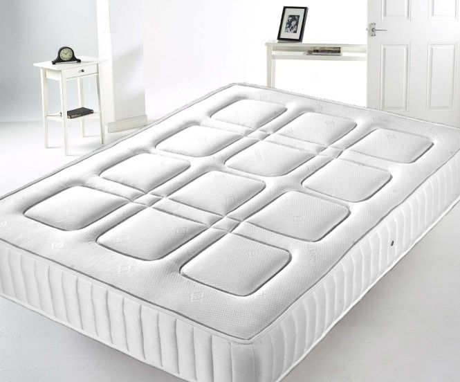 New Sprung Mattress 3ft 4ft 6 5ft Memory Foam Topped Double King Uk Q