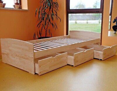 Kinderbett Funktionsbett Einzelbett Kojenbett Jugendbett 90x200 VOLL-MASSIVHOLZ