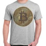 Bitcoin T Shirt Tee Crypto Currency Traders Coin BTC Y100