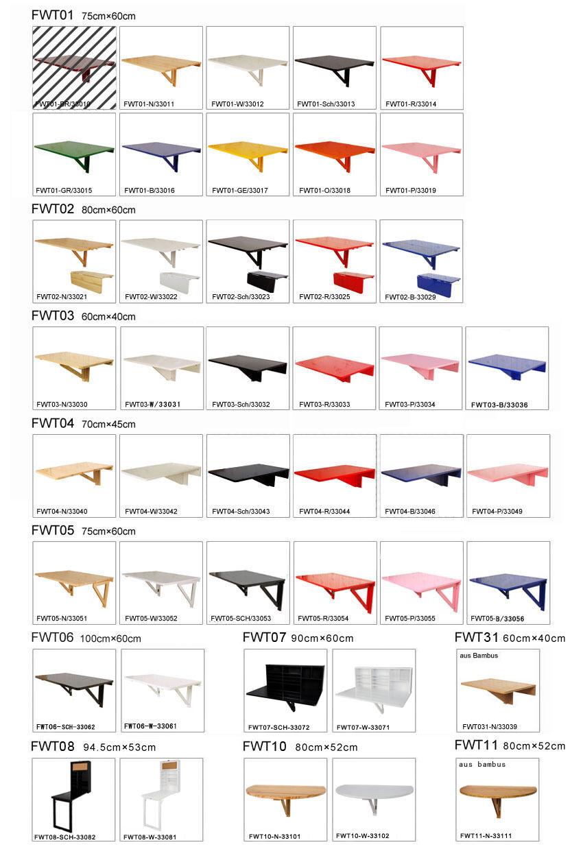 SoBuy® Wandklapptische,Wandtisch,Küchentisch,Klapptisch,Kindermöbel,Esstisch FWT