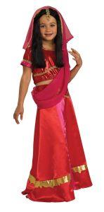 Girls Bollywood Costume Childrens Bolly Wood Indian Hindu Princess Child Sari