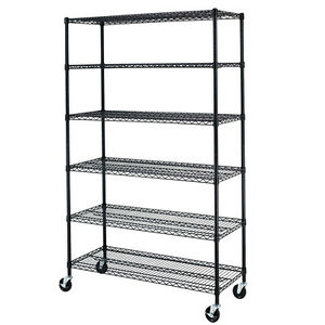 "72""x48""x18""  Commercial 6 Tier Shelf Adjustable Steel Wire Metal Shelving Rack"