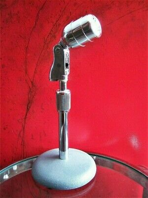 Vintage 1950's Electro Voice 630 dynamic microphone deco old w Atlas DS-7 stand