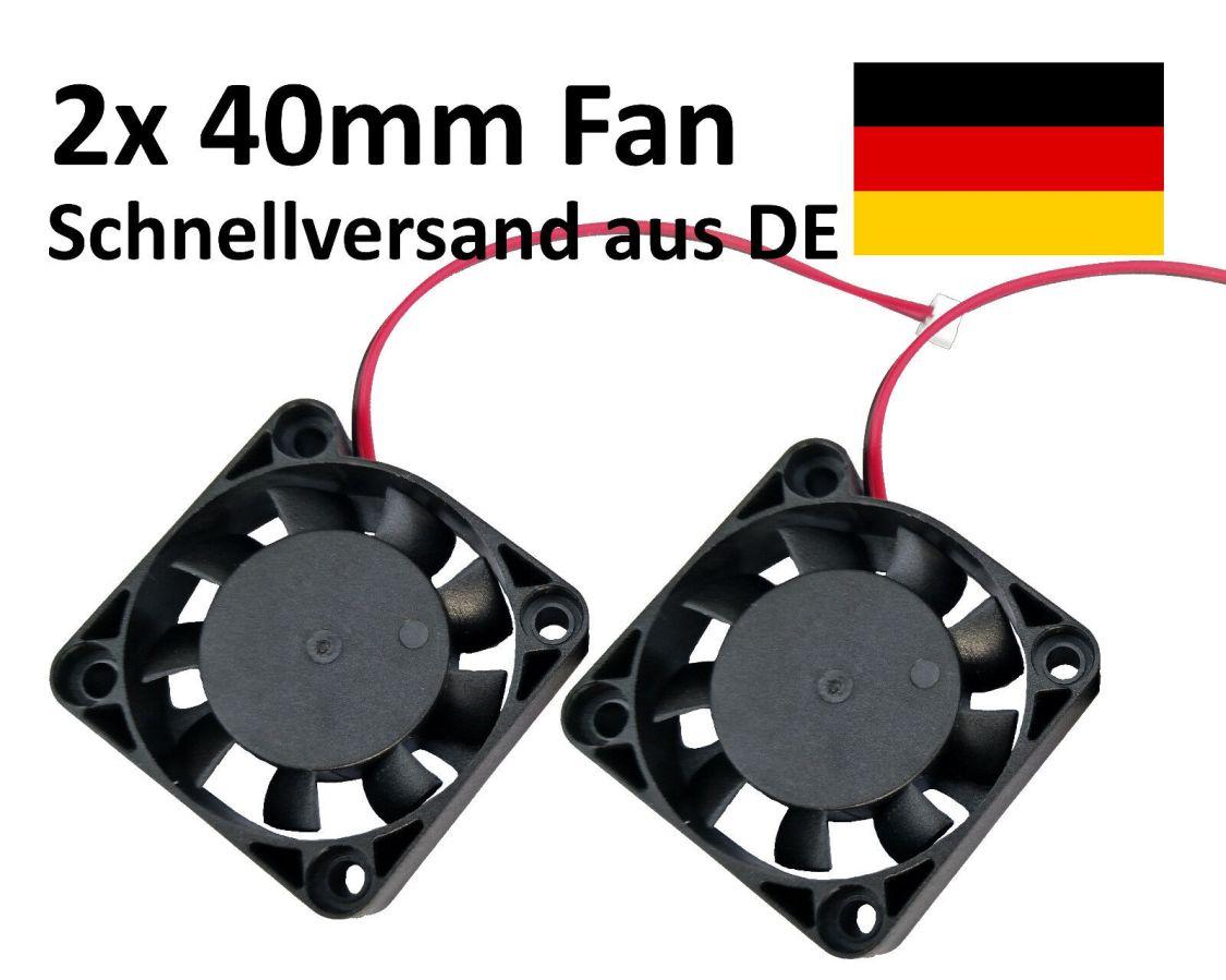 2x 40mm Lüfter Fan 12V 4cm Case Gehäuse  Cooler Kühler 3D Drucker Printer