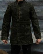 Rick Owens Slab WFO6033 Brown Wax Coated Denim Jacket Size M Vintage