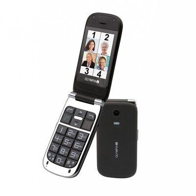 Becco plus Klapp Senioren Mobiltelefon mit großen Tasten Farbdisplay schwarz