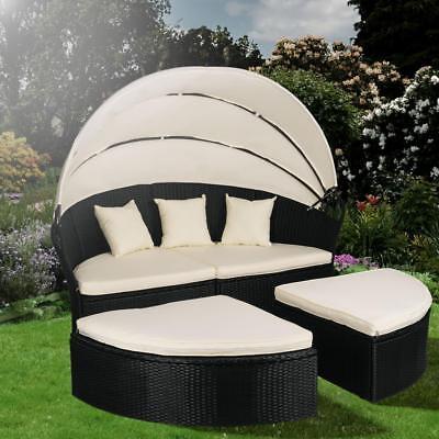 Polyrattan Sonneninsel Sonnenliege Lounge Sitzgarnitur Sitzgruppe Gartenmöbel