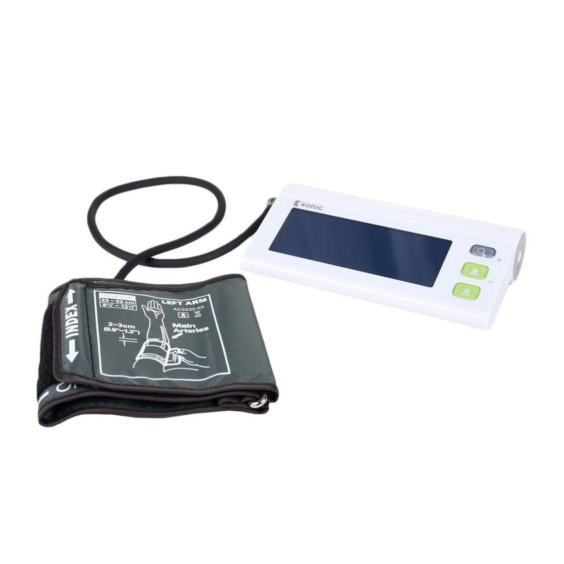 KÖNIG ELECTRONIC Bluetooth Blutdruckmessgerät Pulsmesser Oberarm, Weiß