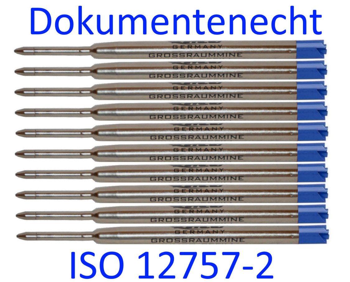 ♥ 10 x Grossraum- Mine *Parker-System* blau* Kugelschreibermine / LGM10