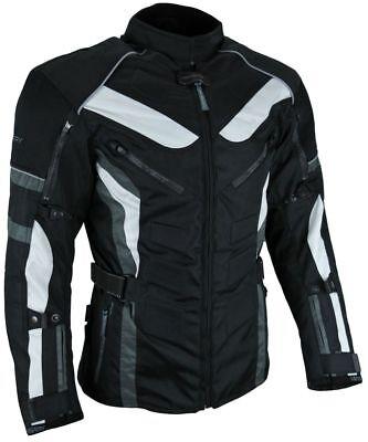 Heyberry Touren Motorrad Jacke Motorradjacke Textil schwarz grau Gr. M bis 7XL