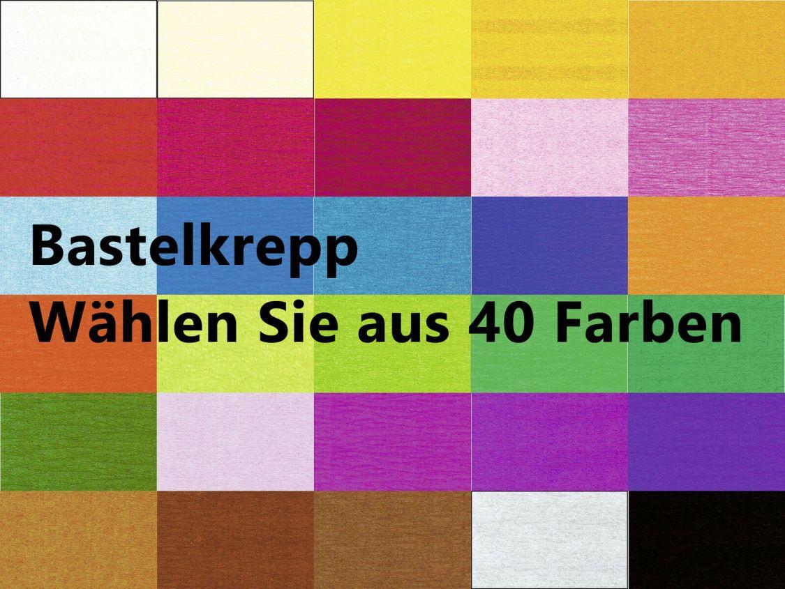 Bastelkrepp 250 x 50 cm gerollt, Krepp-Papier * Auswahl