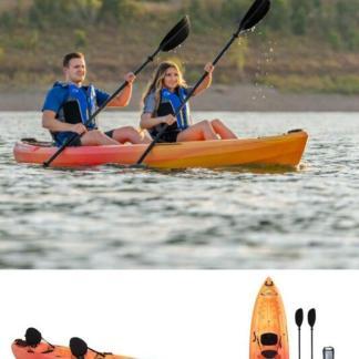 12 ft Tandem Kayak UV Protected High Density Polyethylene Built in Padded CRS