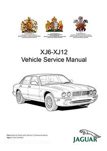 Jaguar XJ6 XJ12 X300 039 94 039 97 Workshop Service Repair