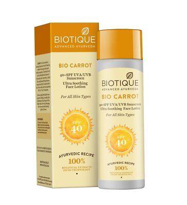 Bio Karotte Gesicht & Körper Sonnenmilch Spf 40 Uva / Uvb Sonnencreme 120Ml