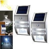 2x Wireless PIR Motion Sensor Solar LED Security Outdoor Light