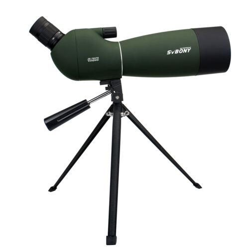 SVBONY SV28 25-75x70mm abgewinkelt Zoom Spektiv IP65 Wasserdicht mit Stativen DE
