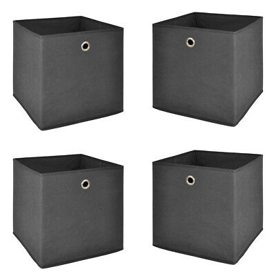 Faltbox 4er Set Flori Regalkorb 32x32 anthrazit Regal Büro Aufbewahrungsbox