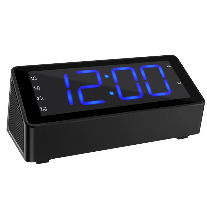 Radiowecker Digitaler Wecker Uhrenradio FM LED Batteriebetrieben Dual Alarm DE