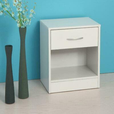 2 PCS Wood End Side Bedside Table Nightstand Bedroom w/Drawer 4