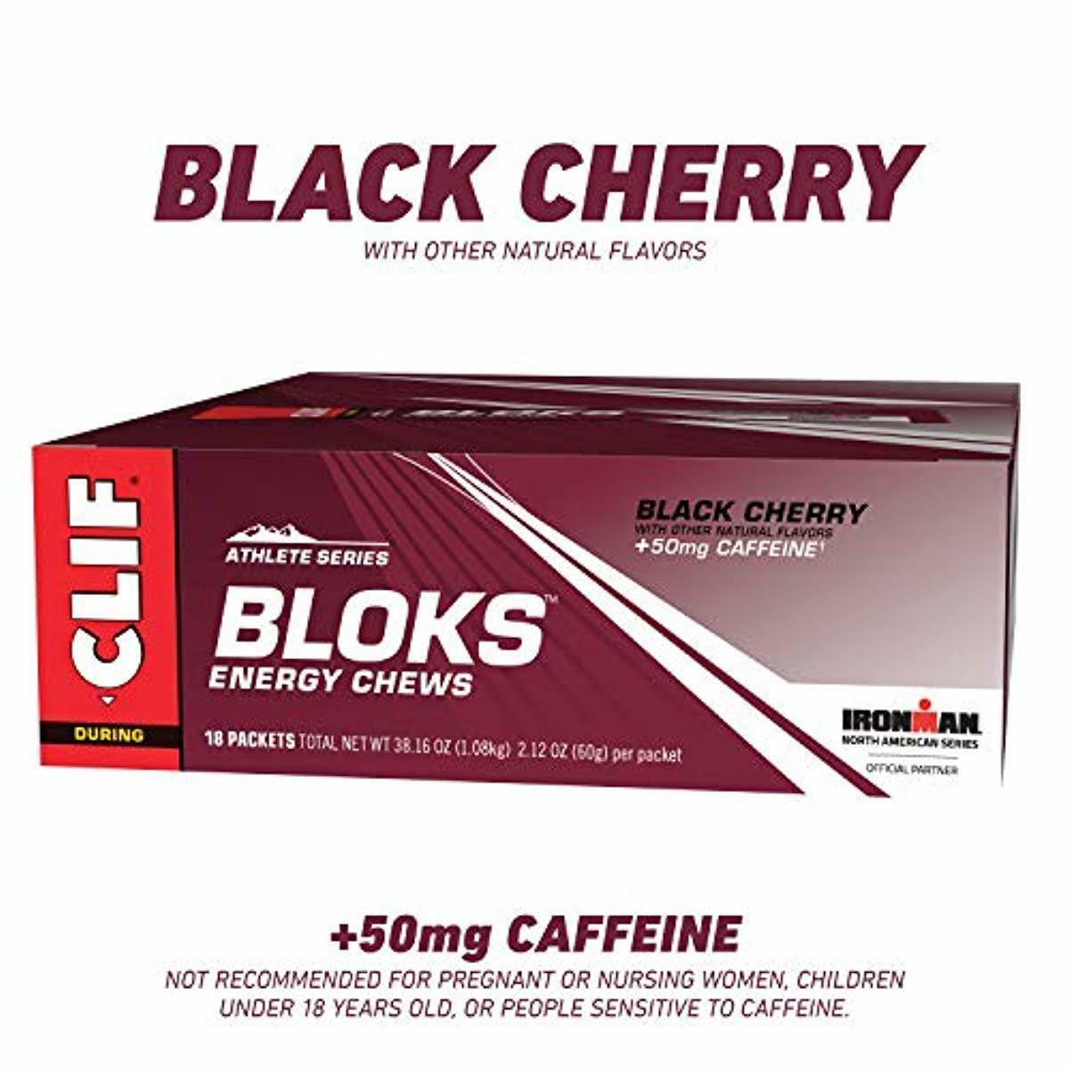 Clif Bloks Energy Chews Black Cherry With Caffeine 2 1