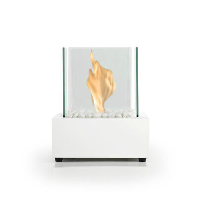 Bio Fires - Glass Cube White Matt Bio Ethanol Tabletop Burner