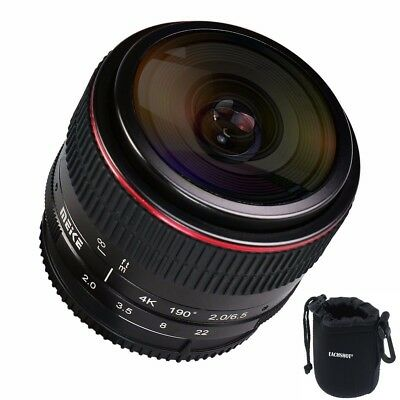 MEIKE MK-6.5mm F/2.0 Fisheye-Objektiv Multicoated Für Canon EF-M Mount Kameras