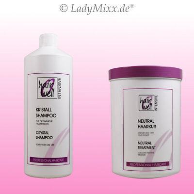 Neutral Haarkur / Kristall Shampoo je 1000ml Hairwell EURODOR Silikonfrei
