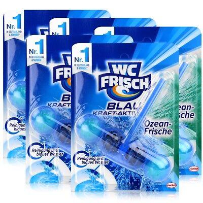 5x Henkel WC Frisch Blau Kraft Aktiv Ozean Frische für blaues Wasser